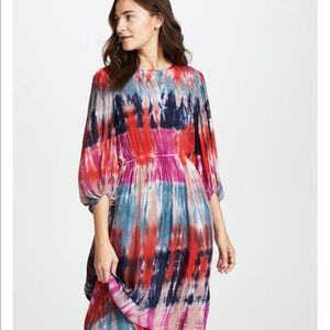 NWOT Young, Fabulous and Broke Tie Dye Maxi Dress